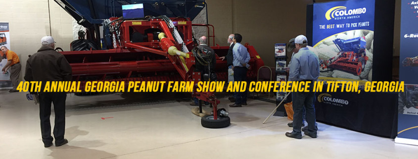 image of colombo peanut combine at farm exhibit